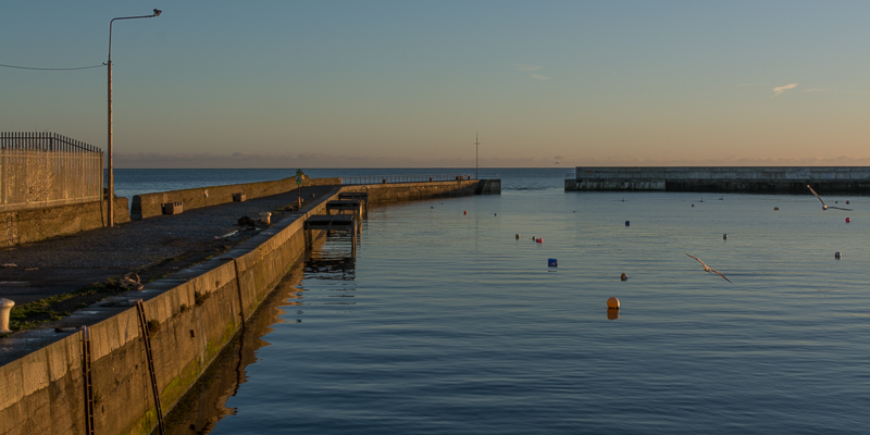 Morning tranquility at Bray Harbour
